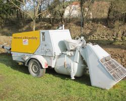 Pumpa na beton a lité směsi - přívěsná